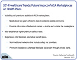 New Table: 3 Impacts of ACA Marketplaces on Health Plans in 2014