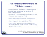 Staff Supervision Requirements To Be Eligible for CCM Reimbursement