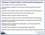 10 Behavior Change Principles to Guide Incentives Development