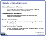 New Table: 4 Domains of Process Improvement for Reducing Hospital Readmissions