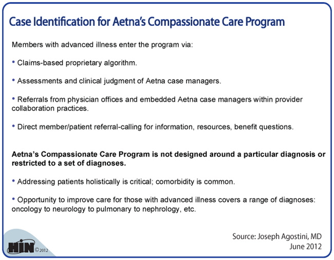You may want to read this about Aetna Compassionate Care ...
