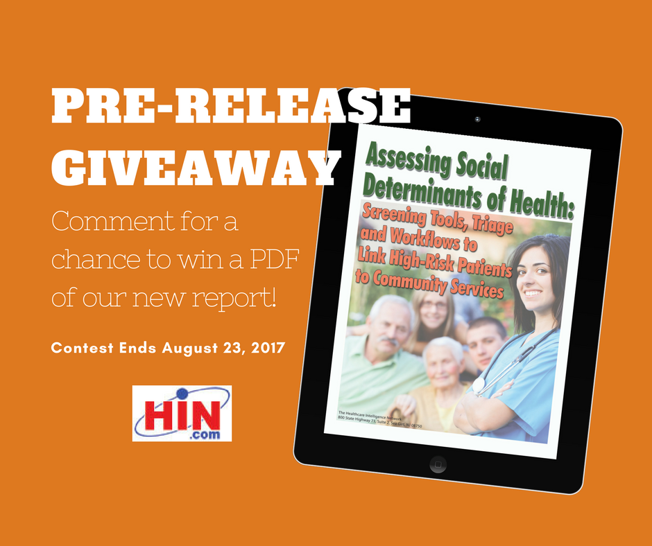 Enter to win a FREE copy of our upcoming SDOH report