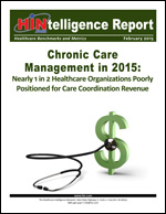 Chronic Care Management in 2015: Nearly 1 in 2 Healthcare Organizations Poorly Positioned for Care Coordination Revenue