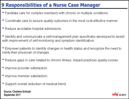 Healthcare Intelligence Network Chart of the Week 9 – Roles and Responsibilities Chart