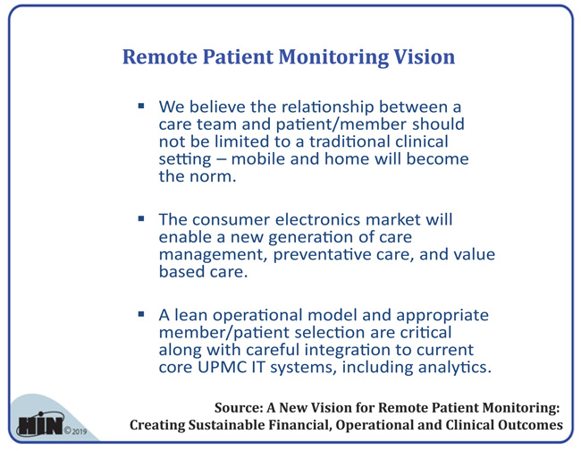 Healthcare Intelligence Network - Remote Patient Monitoring Vision