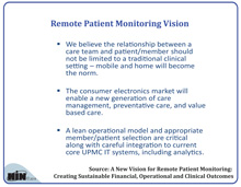 Remote Patient Monitoring Vision?